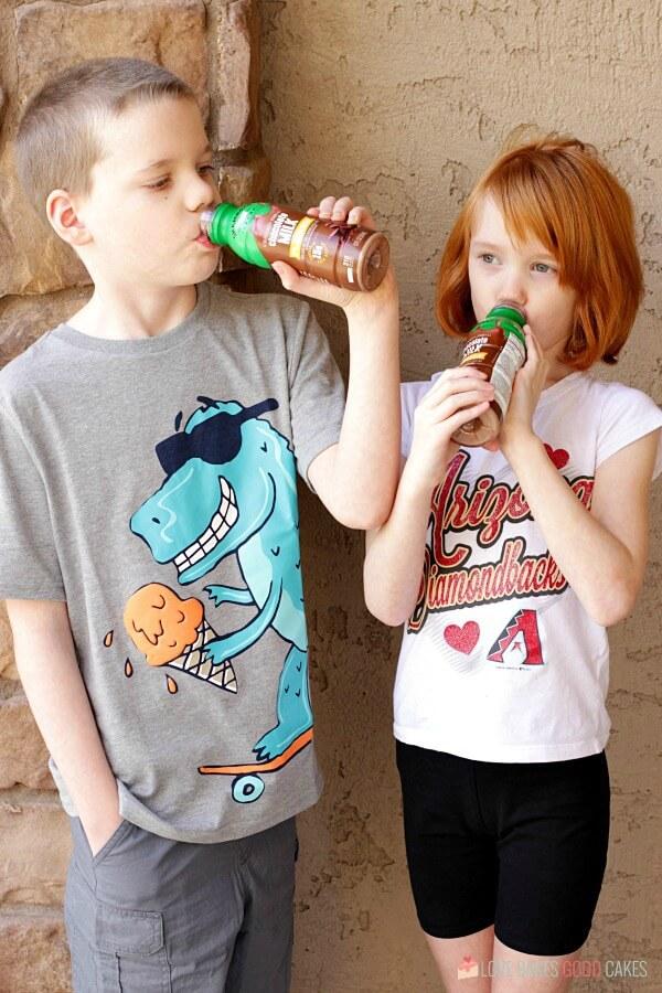 kids drinking Shamrock Farms milk