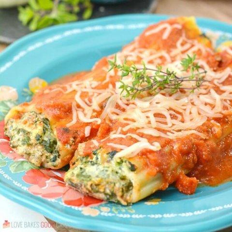 square picture Spinach Ricotta Manicotti