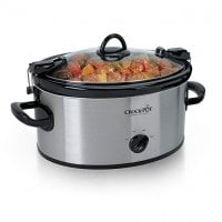 Crock-Pot Cook & Carry 6-Quart Oval Portable Manual Slow Cooker | Stainless Steel