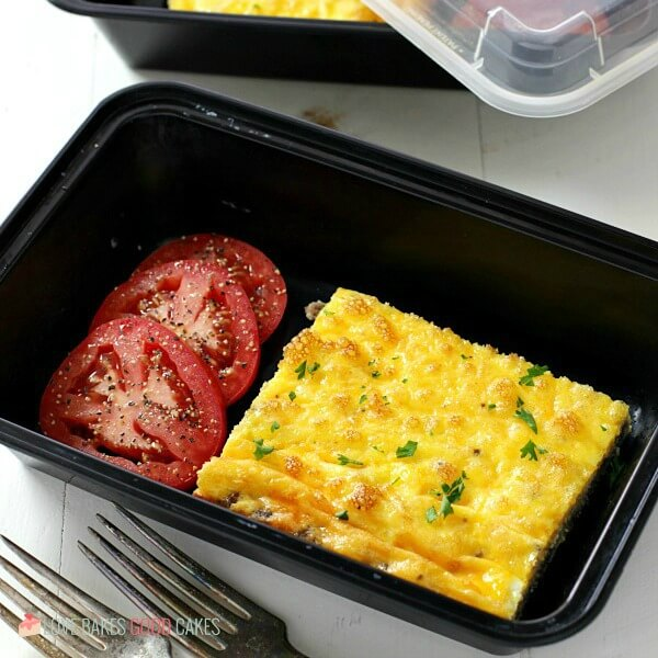 square meal prepped Low Carb Baked Omelet