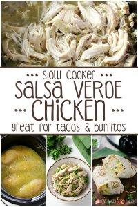 Slow Cooker Salsa Verde Chicken collage