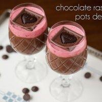 Chocolate Raspberry Pots de Crème