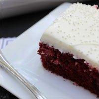 Easy Red Velvet Poke Cake with the Best Ever Cream Cheese Buttercream