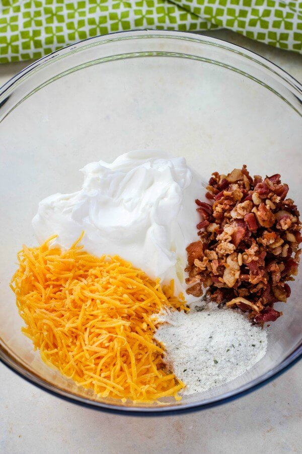 dip Ingredients in bowl