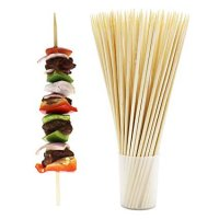 Thick Sturdy Bamboo Skewer Sticks 100pcs