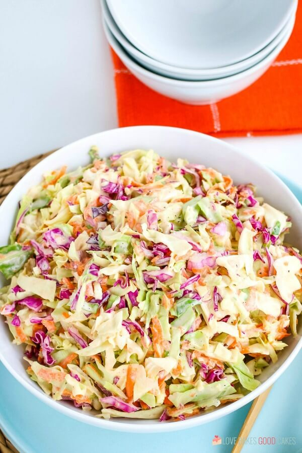 The best coleslaw recipe with homemade dressing.