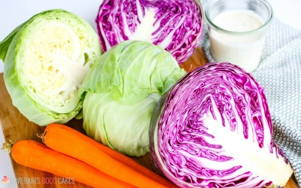 Ingredients to make homemade coleslaw.