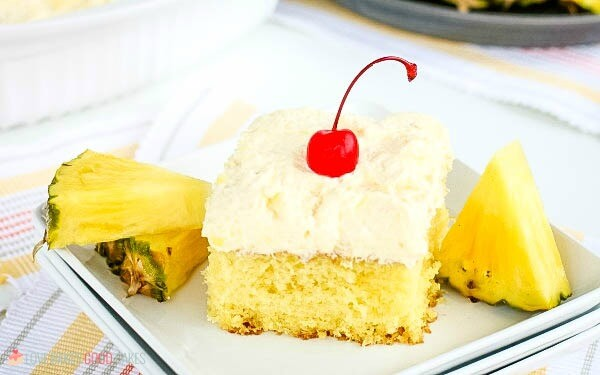 Closeup of Pineapple Sunshine Cake