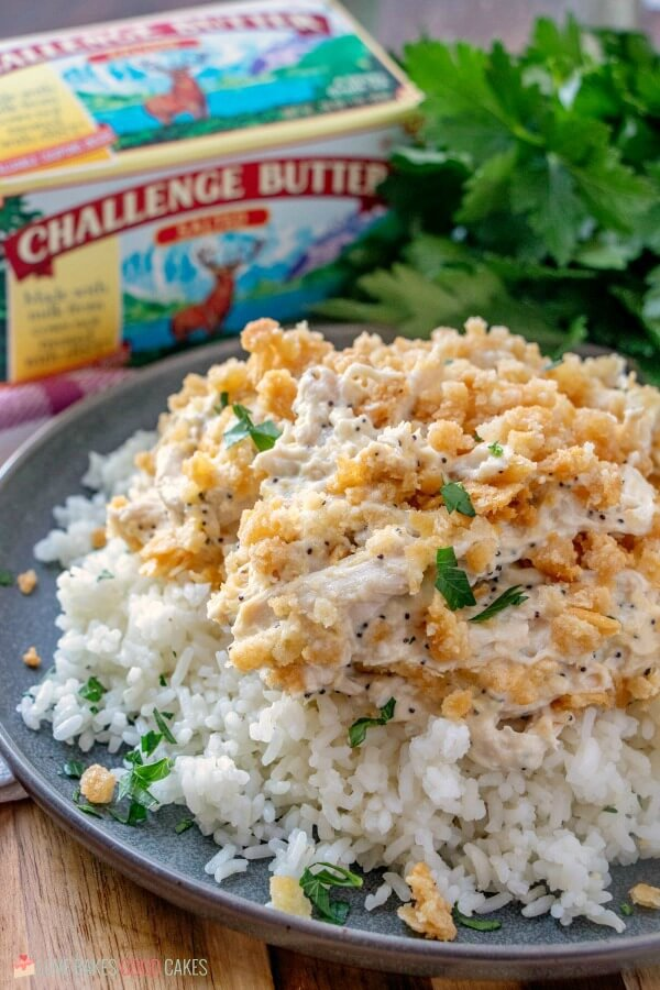 Challenge Butter makes this casserole delicious!