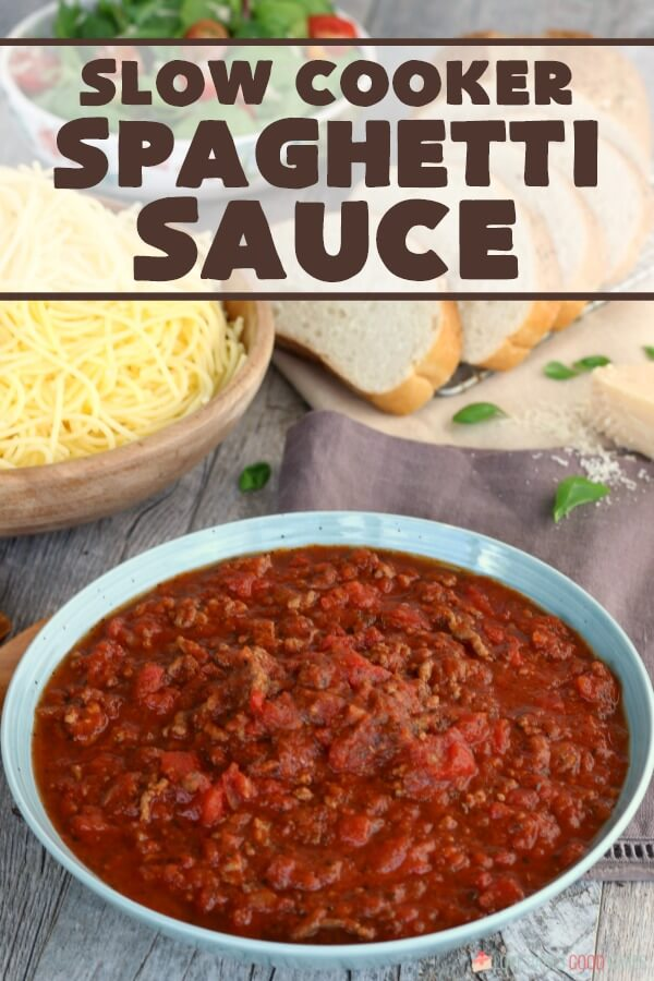 Classic Crock Pot Spaghetti Sauce with Ground Beef