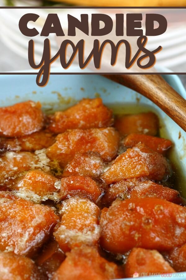 The finished candied yams recipe is delicious and ready to be served.