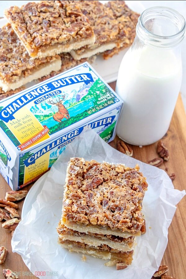 crunchy and buttery pecan pie bars
