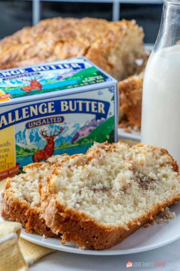 Amish CInnamon Bread with Challenge Butter