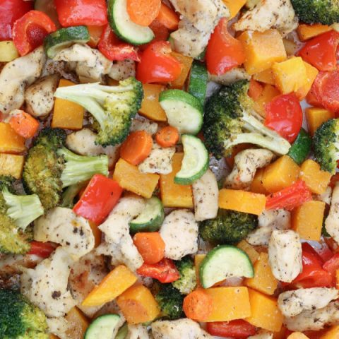Healthy Sheet Pan Chicken and Veggies