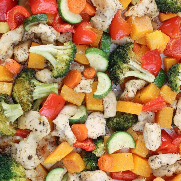 Healthy Sheet Pan Chicken and Veggies