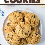 raisin cookies on a cplate
