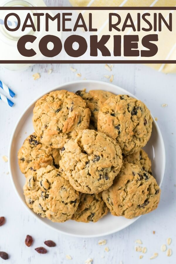 raisin cookies on a plate