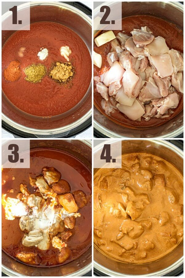 how to make Instant Pot Butter Chicken Curry - step by step