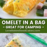 omelet in a bag pin collage