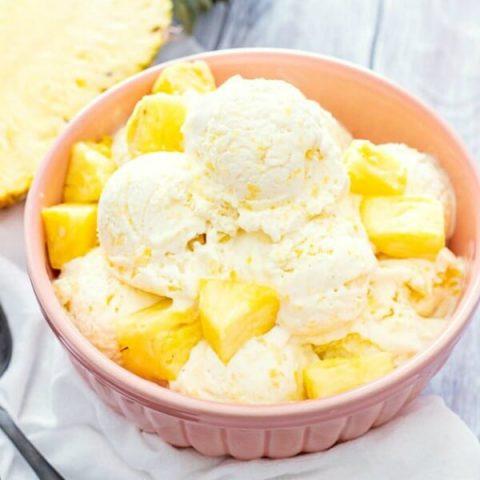 No-Churn Pineapple Ice Cream