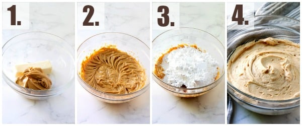 step by step how to make peanut butter frosting