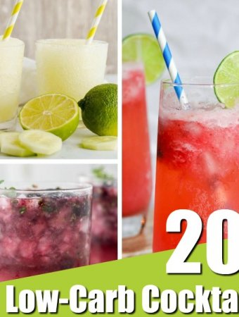 collection of 20 low-carb cocktails