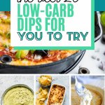 collage of 20 low-carb dips