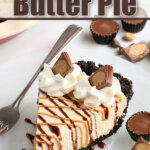 peanut butter pie slice on plate