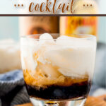 finished white russian cocktail with ice