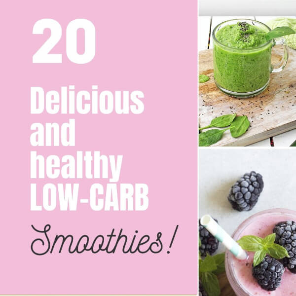 low-carb smoothie square collage