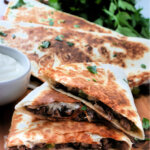 quesadilla wedges stacked