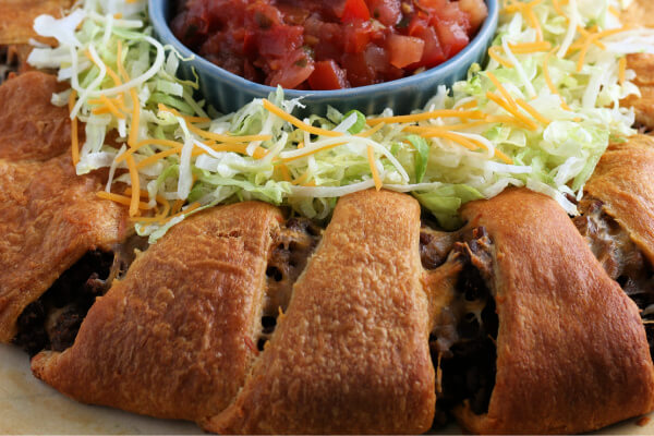 closeup of taco ring