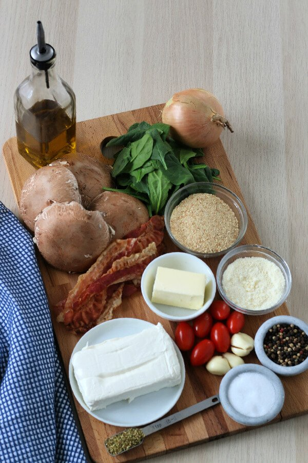 ingredients to make stuffed mushrooms
