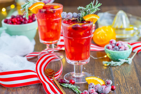 festive background with a christmas drinks non alcoholic