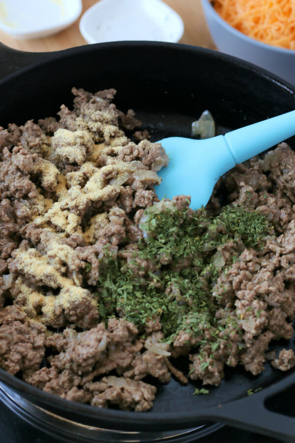 seasonings added to ground beef