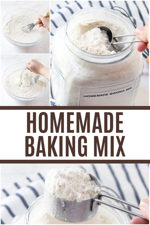 homemade baking mix pin collage