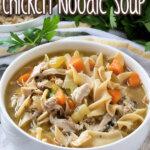 instant pot chicken noodle soup pin