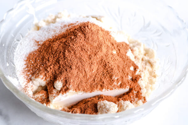 spices added to cream cheese mixture