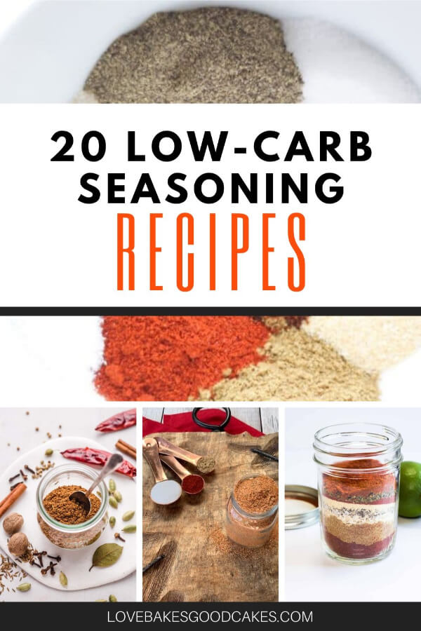 low carb seasonings pin