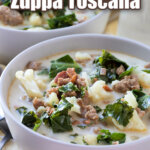 Low carb zuppa toscana pin