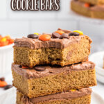 peanut butter cookie bars pin