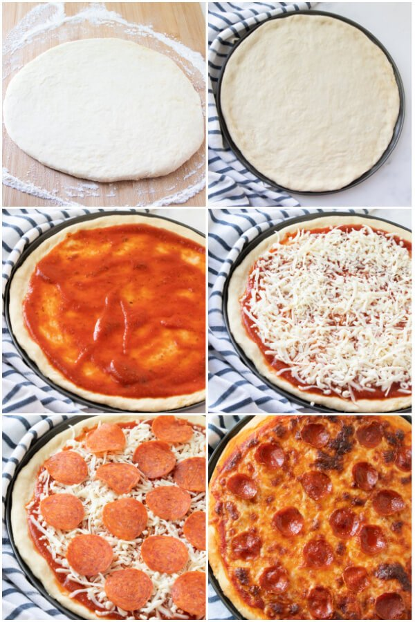how to assemble a pizza