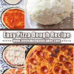 pizza dough pin collage