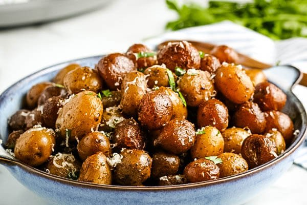 finished potatoes in serving bowl