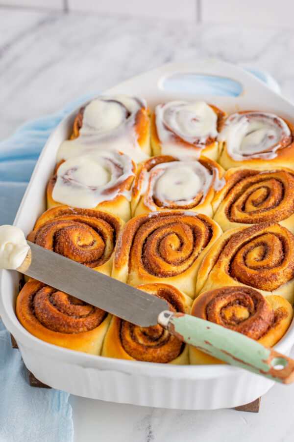 frosting the rolls
