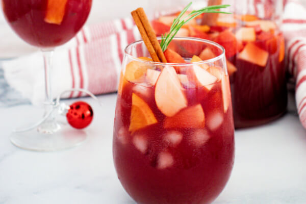 fruity cocktail for Christmas