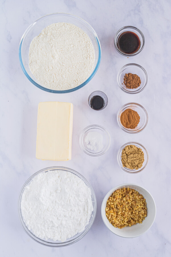 ingredients for cookies