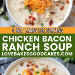 chicken bacon ranch soup pin collage