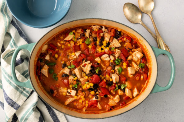 chipotle chicken soup in pot