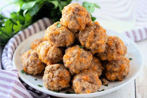 sausage balls on plate